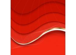 红色立体背景设计