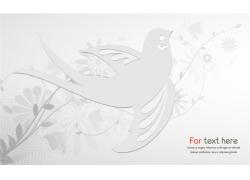 白色花纹燕子图片