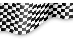 赛车旗帜背景
