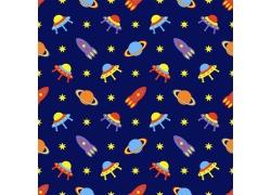 太空飞船飞碟背景