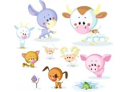 卡通动物漫画图片