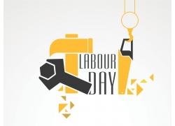 劳动节艺术字设计