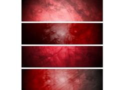 复古红色横幅背景