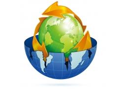 时尚绿色环保地球