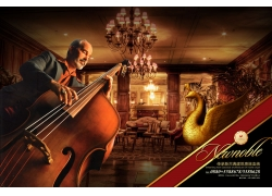 欧式风格乐器房地产海报
