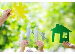 太阳家庭可爱剪纸