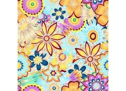 矢量花朵无缝拼接背景