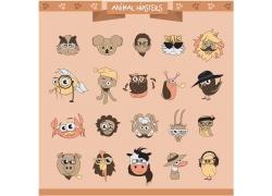 卡通动物头部漫画图片