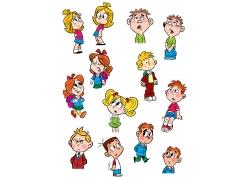 可爱卡通儿童表情图集图片