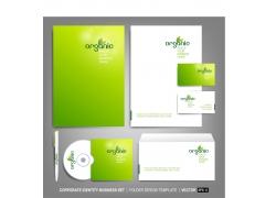 绿色背景VI设计