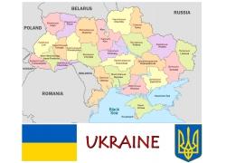 彩色乌克兰地图