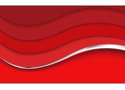 红色条纹立体背景设计