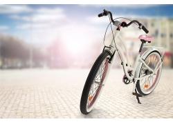 道路上的自行车摄影