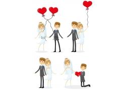 结婚的卡通人物设计