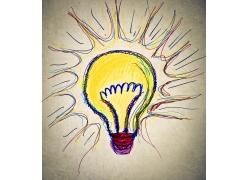 创意涂鸦灯泡