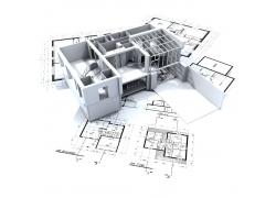 建筑图纸与建筑3D效果图