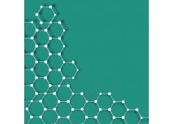 蓝色分子结构背景
