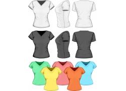 女性彩色T恤设计