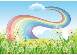 蒲公英与彩虹图片