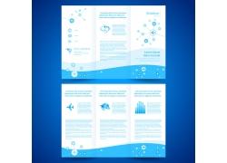 蓝色飞机折页宣传册图片