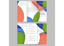 彩色三折页宣传册图片