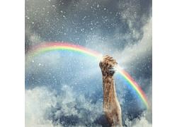 手握住的彩虹