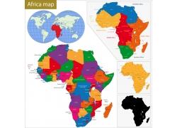 非洲地区地图版块图片