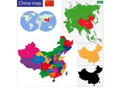 中国地区版块地图图片