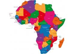 非洲地区国家地图版块图片