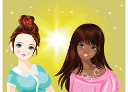 可爱时尚女孩漫画图片