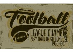 橄榄球运动T恤印花设计