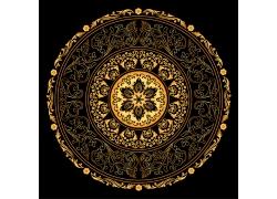 金色古典花纹