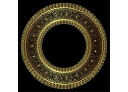 金色圆盘花纹