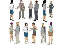 对话的矢量男女图片