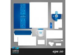 蓝色企业VI模板设计
