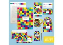 彩色方格公司vi设计