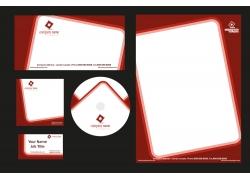 红色边框公司vi设计