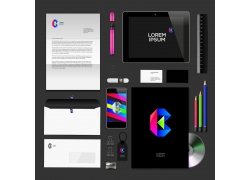 黑色设计公司vi设计