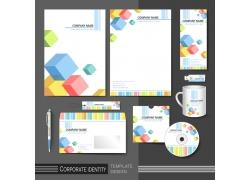 彩色立体方格公司vi设计