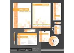 橘色条纹公司vi设计