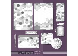 灰色蜂窝图案公司vi设计