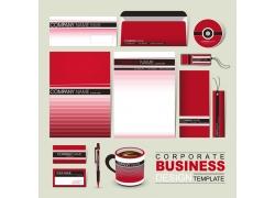 红色条纹公司vi设计