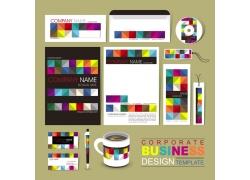 彩色棱格公司vi设计