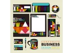 彩色三角形公司vi设计