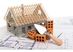 建筑工具与房子模型