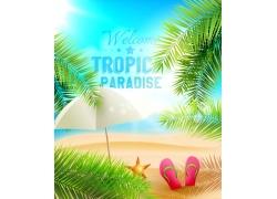 夏日促销旅游背景