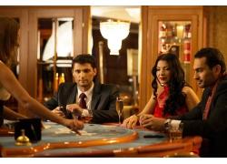 赌博的国外人物摄影