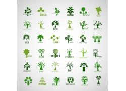 卡通树logo设计