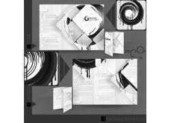 创意黑色vi设计模板