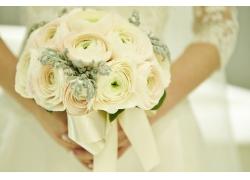 手里的花朵